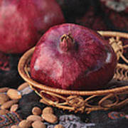 Pomegranates And Almonds Art Print
