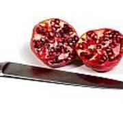 Pomegranates And Knife Art Print
