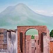 Pompeii And Vesuvius   Art Print