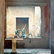 Pompeii Courtyard Art Print