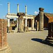 Pompeii In Ruins Art Print