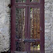 Pompeii Old Door Art Print