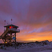 Ponce Inlet Beach Guard Tower Art Print