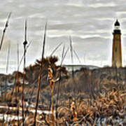 Ponce Inlet Lighthouse From The Dunes Art Print