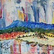 Pond By Massanutten Peak - Sold Art Print