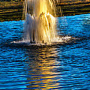 Pond Fountain Art Print