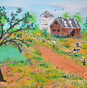 Pond Hill Road Art Print