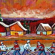 Pond Hockey Game 2 Art Print