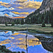 Pondering Reflections Print by David Kehrli