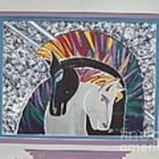 Ponies In Love Art Print