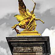 Pont Alexander IIi Fragment In Paris Art Print