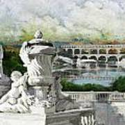 Pont Du Gard Roman Aqueduct Art Print