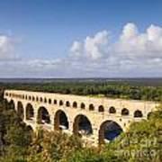 Pont Du Gard Roman Aqueduct Languedoc Roussillon France Art Print by Colin and Linda McKie