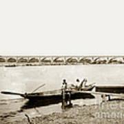 pont George V Bridge over Loire river Orleans Loire Valley France 1900 Art Print