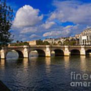 Pont Neuf Over The Seine River Paris Art Print