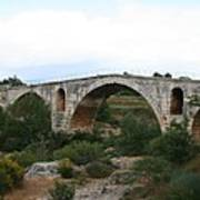 Pont St. Julien And Calavon River  Art Print