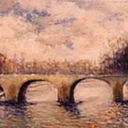 Pont Sur La Seine Art Print