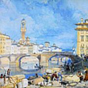 Ponte Santa Trinitia Florence Art Print