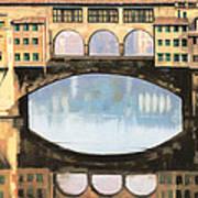 Ponte Vecchio A Firenze Art Print by Guido Borelli