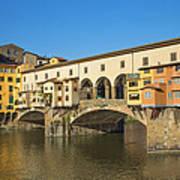 Ponte Vecchio Bridge In Florence Art Print