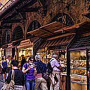Ponte Vecchio Merchants - Florence Art Print