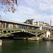 ponte verde a Parigi Art Print