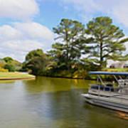 Pontoon Boat Ride On The Lake Art Print