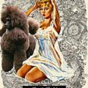 Poodle Art - Una Parisienne Movie Poster Art Print