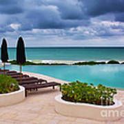 Pool At Rosewood Mayakoba Art Print