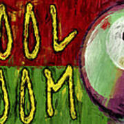 Pool Room Sign Abstract Art Print