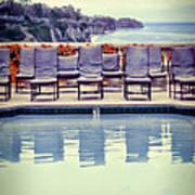 Pool With Views Of The Ocean Art Print