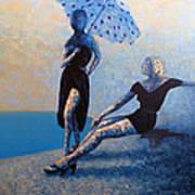Poolside Art Print by Ned Shuchter