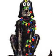 Poor Jack Christmas Lights Art Print