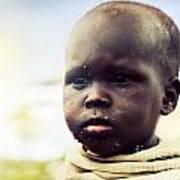 Poor Young Child Portrait. Tanzania Art Print