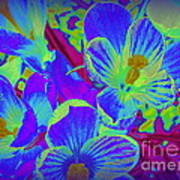 Pop Art Blue Crocuses Art Print