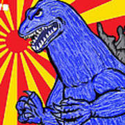 Pop Art Godzilla Art Print by Gary Niles
