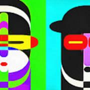 Pop Art People 4 Row Art Print