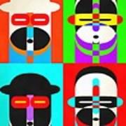 Pop Art People Quattro Art Print