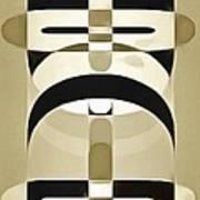 Pop Art People Totem 6 Art Print