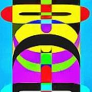 Pop Art People Totem 7 Art Print