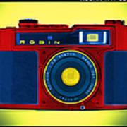 Pop Art Robin Print by Mike McGlothlen