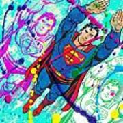 Pop Art Superman Art Print