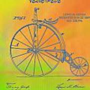 Pop Art Velocipede Patent Art Print