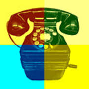 Pop Art Vintage Telephone 1 Art Print