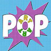 Pop Art Words Splat 01 Art Print