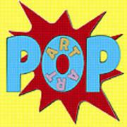 Pop Art Words Splat 02 Art Print