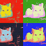 Pop Kitty Art Print