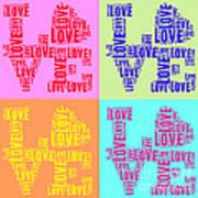 Pop Love Collage Art Print