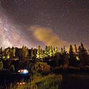 Pop Up Camper Under The Milky Way Sky Art Print
