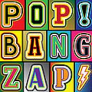 Pop Words Art Print
